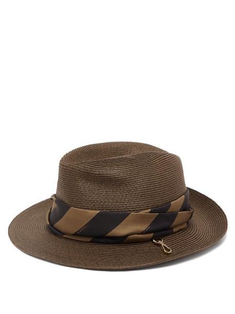 Fendi - Foldable Silk-scarf Paper Hat - Womens - Brown