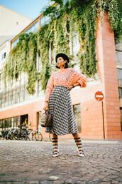 olivia lazuardy,blogger,top,skirt,bag,shoes