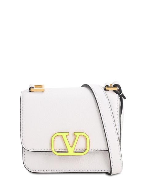 VALENTINO GARAVANI Vsling Micro Grained Leather Bag in white
