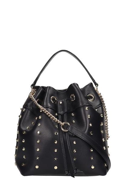 Jimmy Choo Juno -s Shoulder Bag In Black Leather