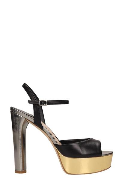 The Seller Black Leather Sandals