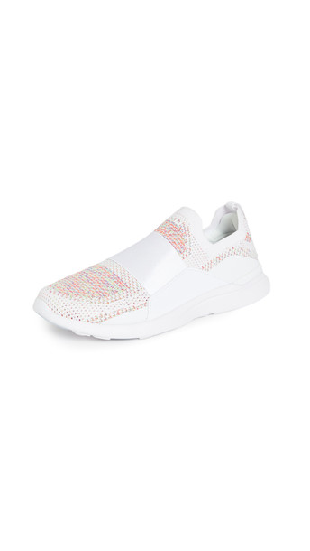 APL: Athletic Propulsion Labs TechLoom Bliss Sneakers in white / multi