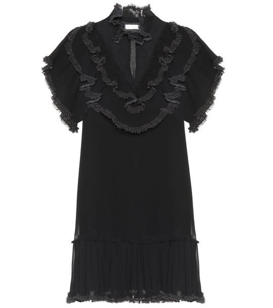 See By Chloé Ruffled minidress in black