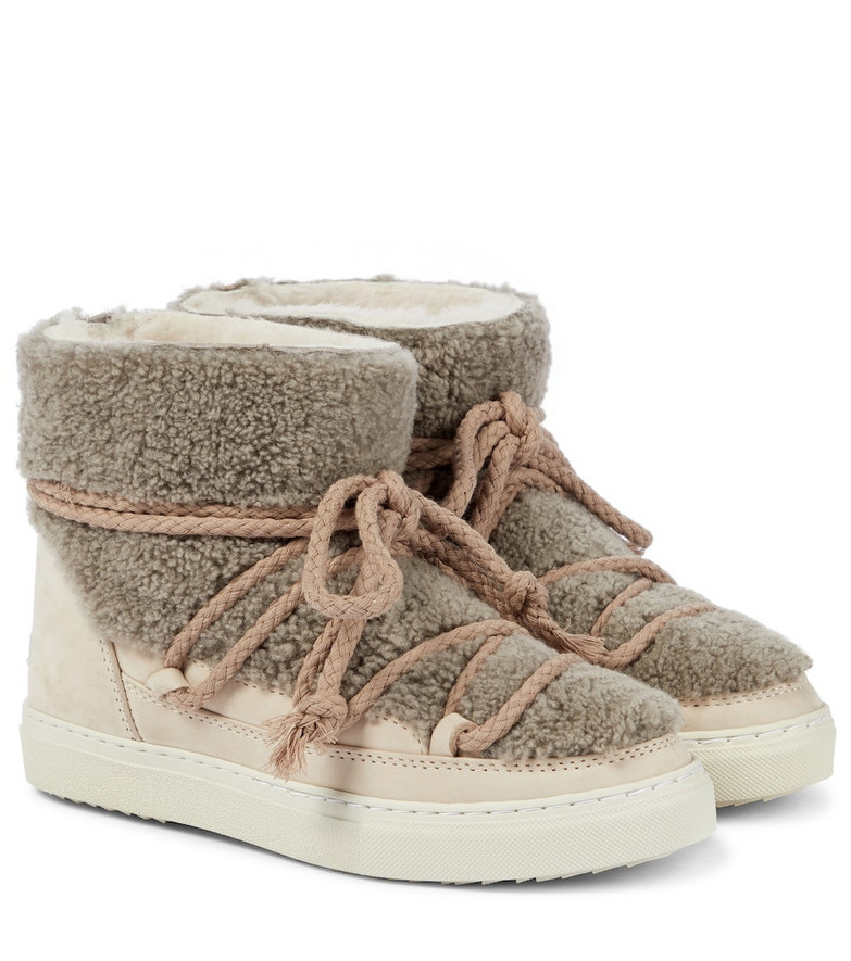 INUIKII Shearling ankle boots in neutrals