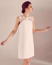 dress,pink dress,pink,nude,nude dress,lace dress,sleeveless dress,sleeveless