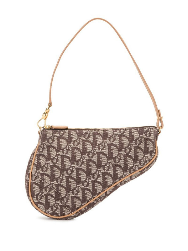 Christian Dior pre-owned mini Trotter saddle bag in brown