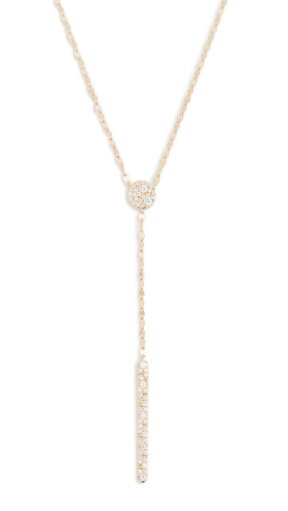 LANA JEWELRY 14k Scattered Diamond Charm Lariat Necklace in gold / yellow
