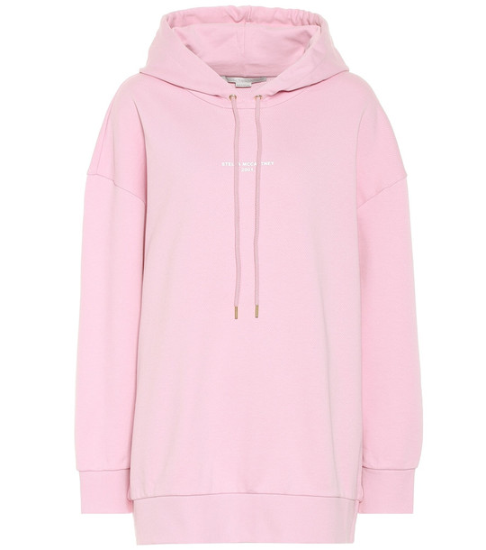 Stella McCartney Oversized cotton hoodie in pink