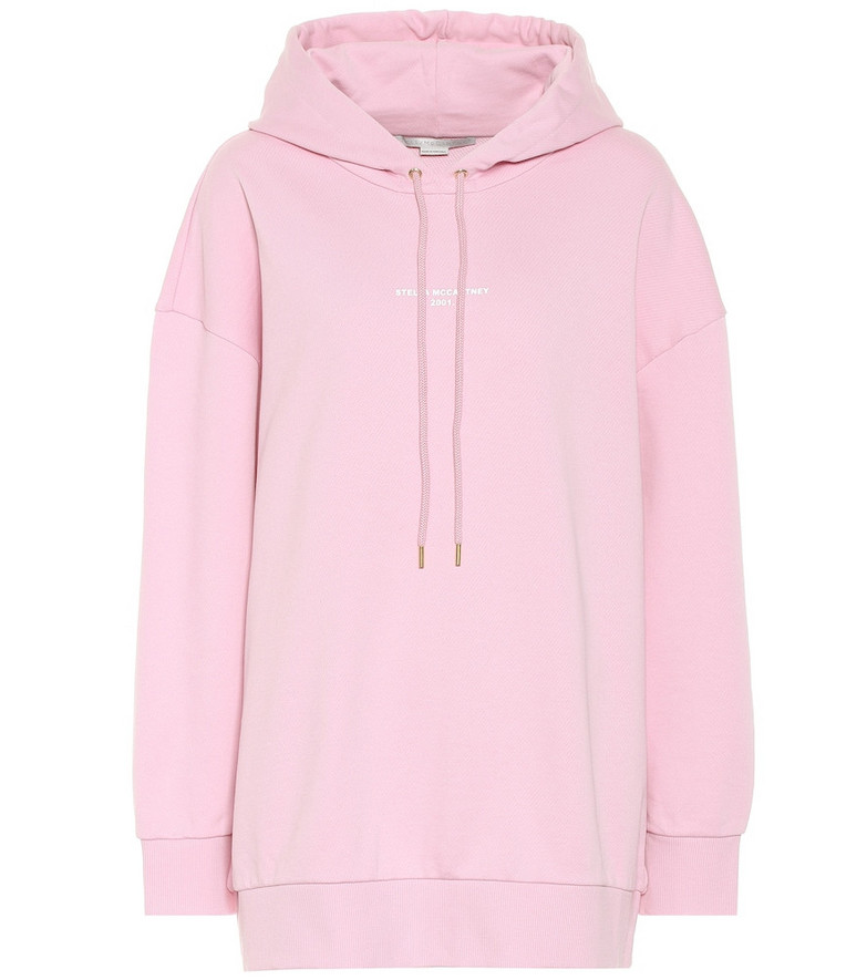 Stella McCartney Oversized cotton hoodie in pink
