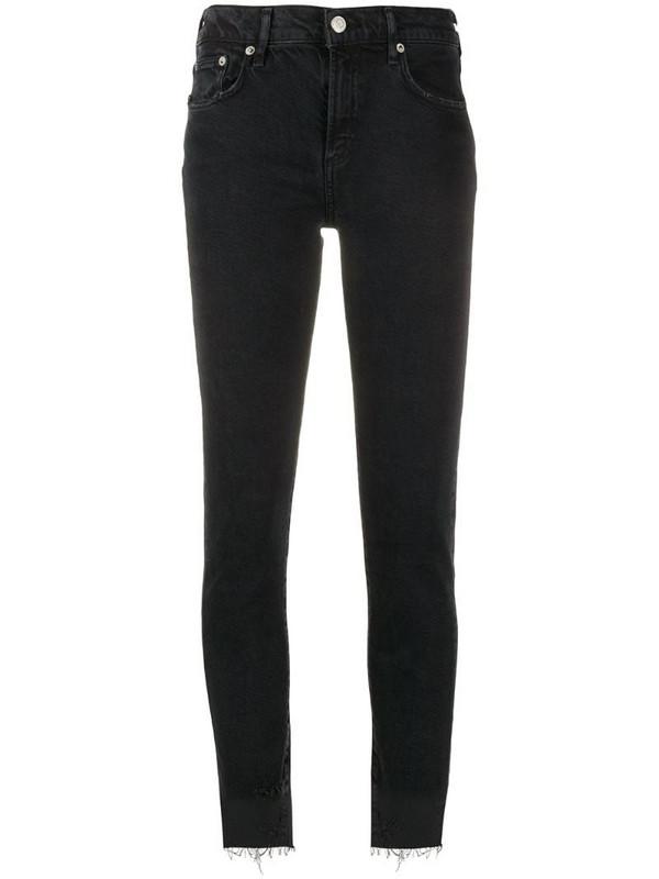 AGOLDE Toni mid-rise skinny jeans in black