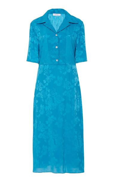 Art Dealer Tirsa Backless Detail Midi Dress in blue