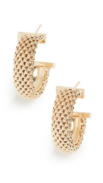 Jennifer Zeuner Jewelry Lucia Hoop Earrings in gold