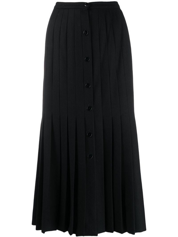 Valentino Pre-Owned 1970s pleated midi skirt in black