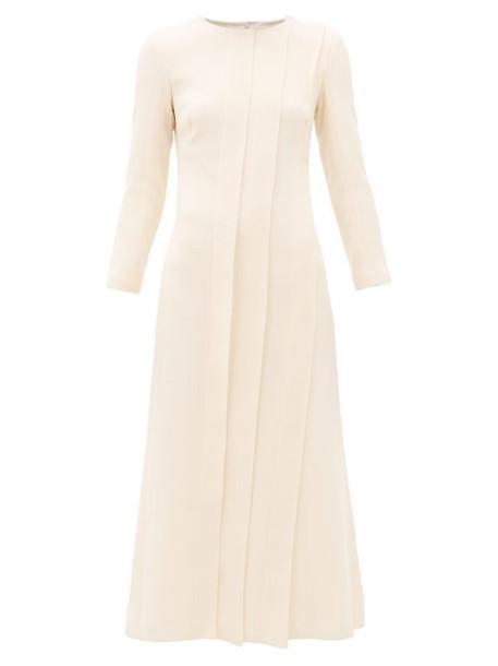 Carl Kapp - Pionus Panelled Wool Crepe Midi Dress - Womens - Cream
