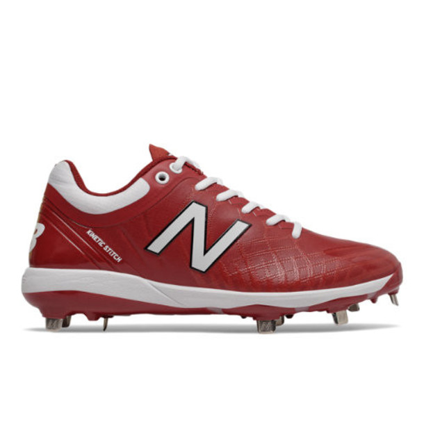New Balance 4040v5 Metal Men's Cleats and Turf Shoes - Red/White (L4040MW5)