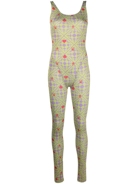 Maisie Wilen Revenge Body orbit-print jumpsuit - Green