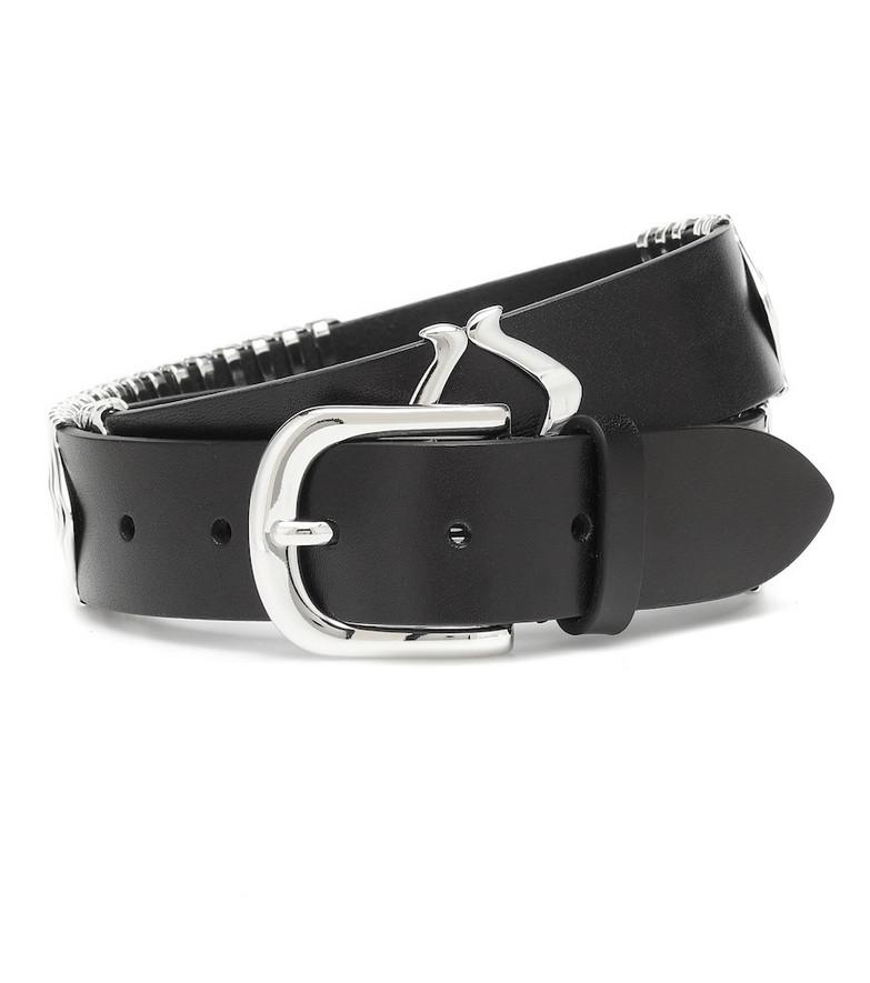 Isabel Marant Tehora leather belt in black