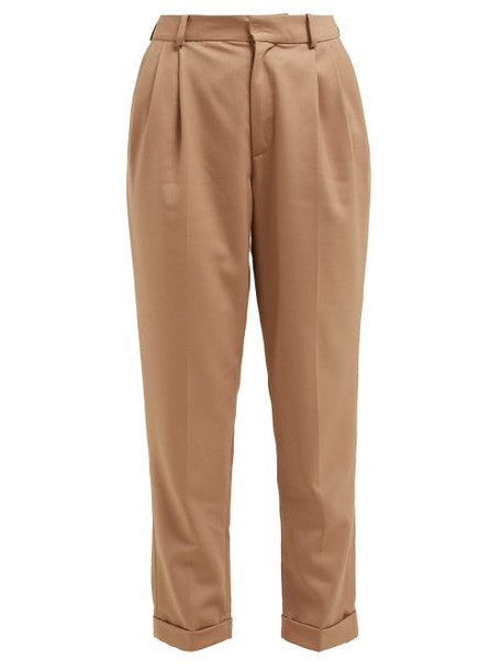 Nili Lotan - Montana Pleated Twill Trousers - Womens - Camel