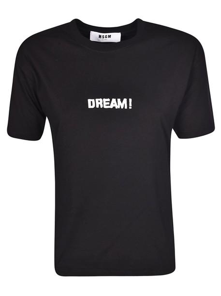 Msgm Dream! T-shirt in black
