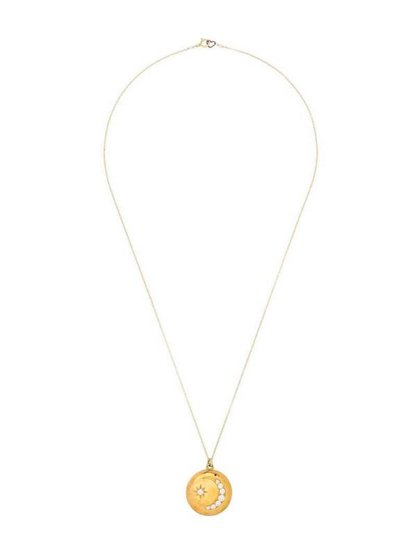 Sasha Samuel 14kt gold-plated Heather Moon Star locket necklace