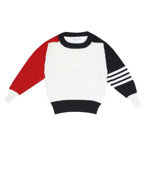 Thom Browne Kids Cashmere sweater in white