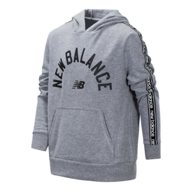 New Balance 15444 Kids' French Terry Hooded Pullover - Grey (BT15444GH)