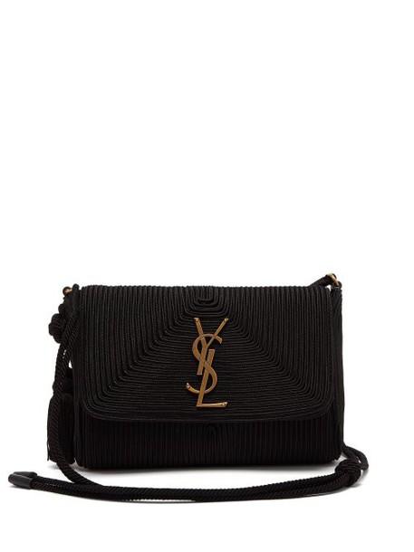Saint Laurent - Kate Woven Satin Cross Body Bag - Womens - Black
