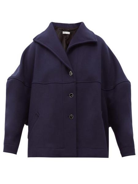 Palmer/harding Palmer//harding - Rhesus Wool-blend Twill Cocoon Jacket - Womens - Navy