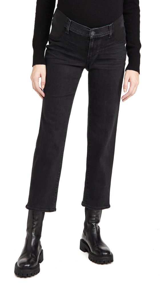 PAIGE Maternity Noella Straight Jeans in black