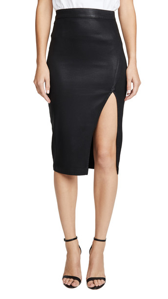 7 For All Mankind Pencil Skirt in black