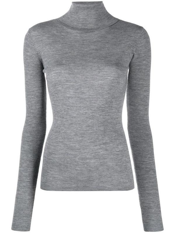 12 STOREEZ ribbed knit turtleneck jumper in grey