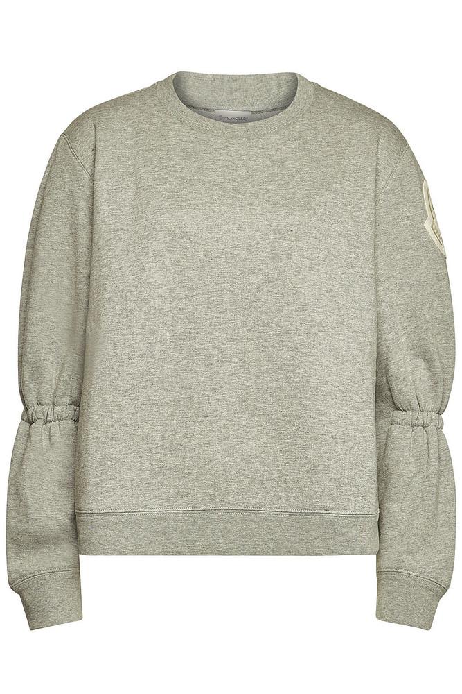 Moncler Cotton Sweatshirt  in grey