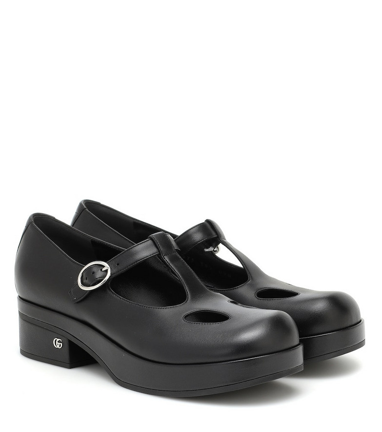 Gucci Mary Jane 40 leather loafers in black