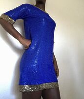 dress,sequin dress,sequins,blue,blue dress,blue sequin dress