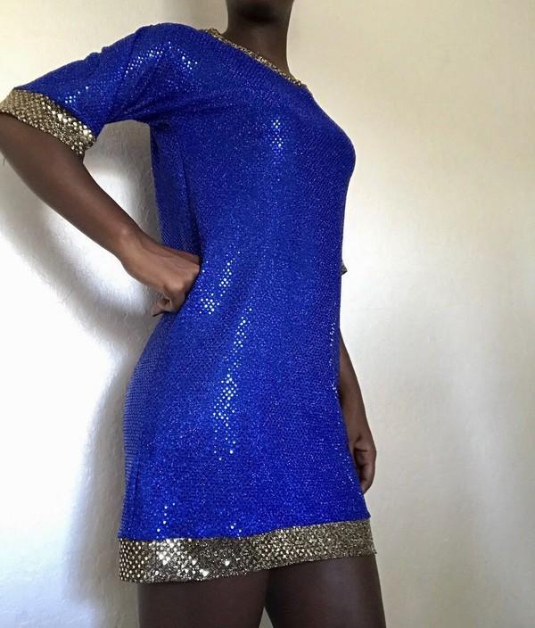 dress sequin dress sequins blue blue dress blue sequin dress