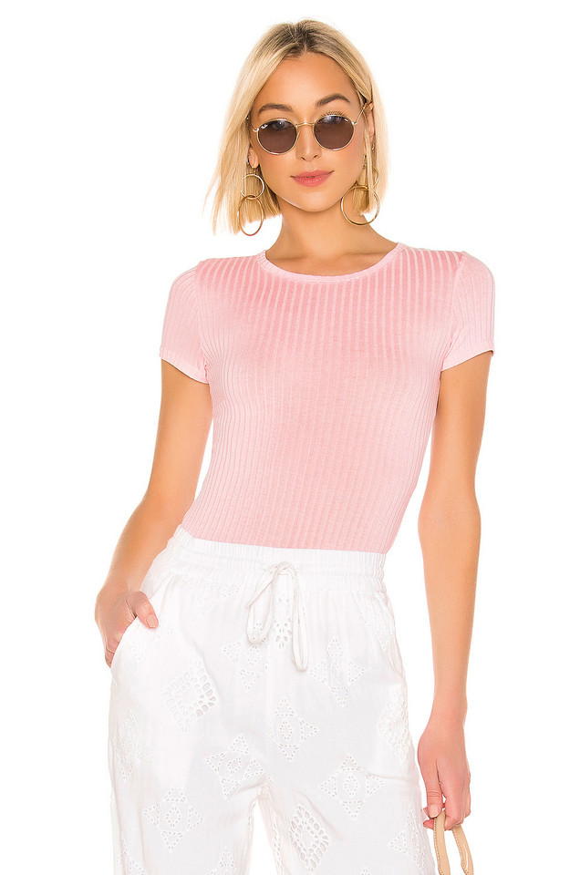 Free People Baby Rib Tee in pink