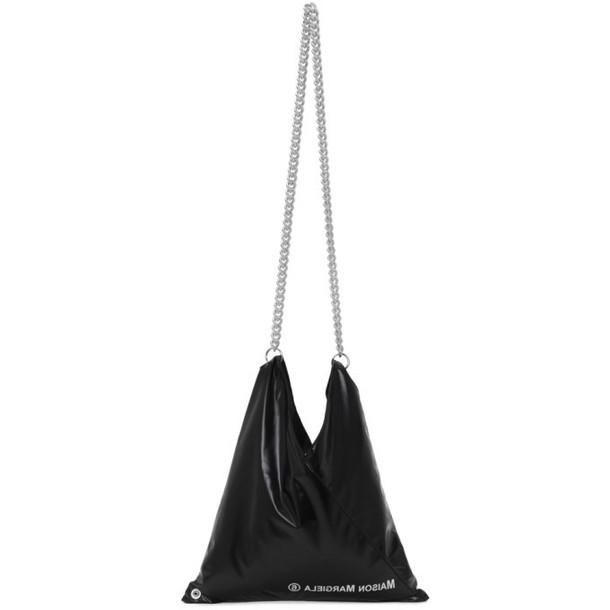 MM6 Maison Margiela Black Shiny Japanese Shoulder Bag