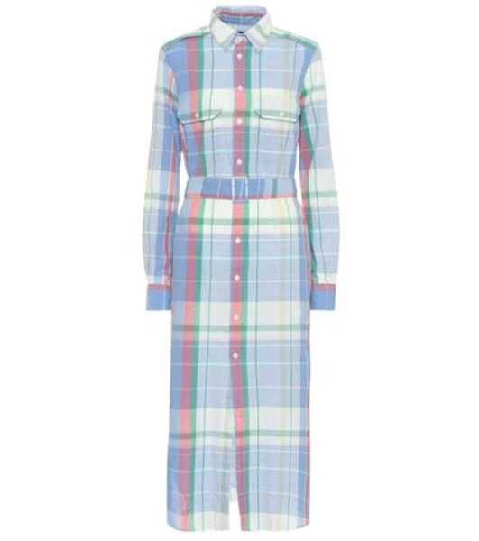 Polo Ralph Lauren Checked cotton shirt dress in blue