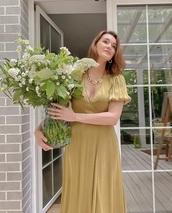dress,precious silk elegant green dress