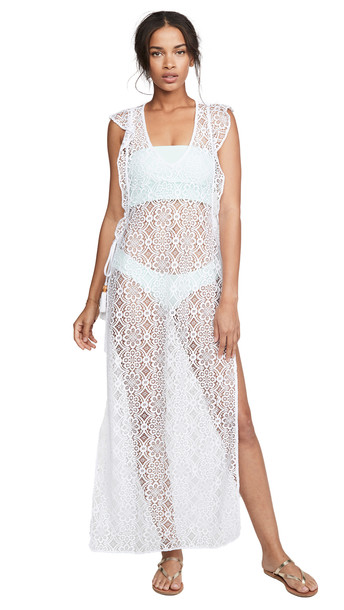PilyQ Lulu Lace Cover Up in white