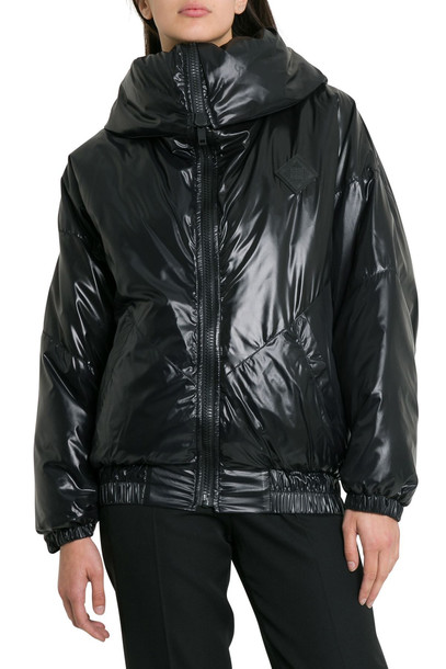 Givenchy Puff Jacket With Logo And Spread Collar in nero