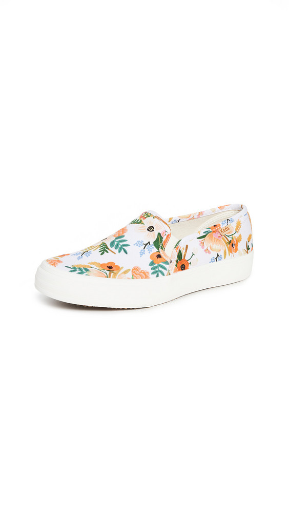 Keds Double Decker Lively Floral Sneakers in white