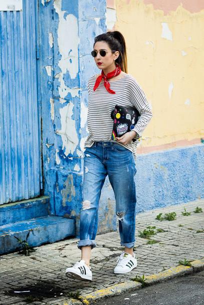 shoes and basics blogger t-shirt jeans bag shoes