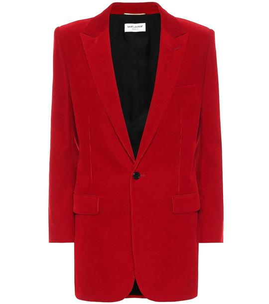 Saint Laurent Corduroy blazer in red