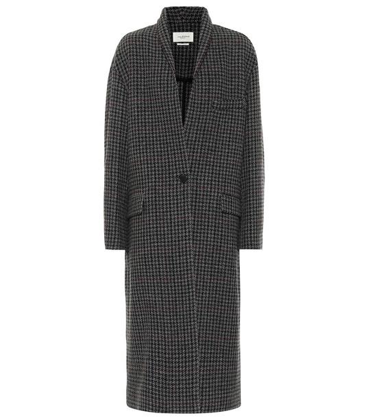 Isabel Marant, Étoile Henol houndstooth wool coat in grey