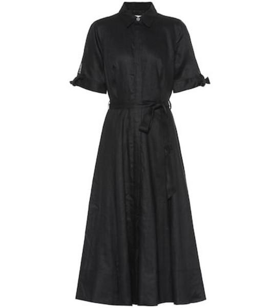Equipment Irenne linen shirt dress in black