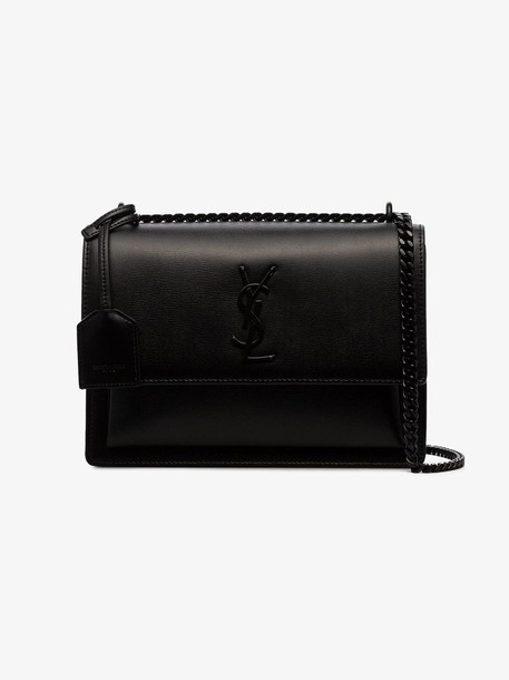 Saint Laurent black sunset medium leather shoulder bag