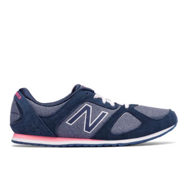 555 New Balance Women's Casuals Shoes - Navy/Pink (WL555BP)