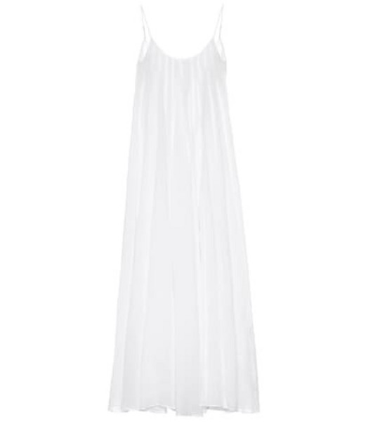Three Graces London Exclusive to Mytheresa – Mabelle ramie maxi dress in white