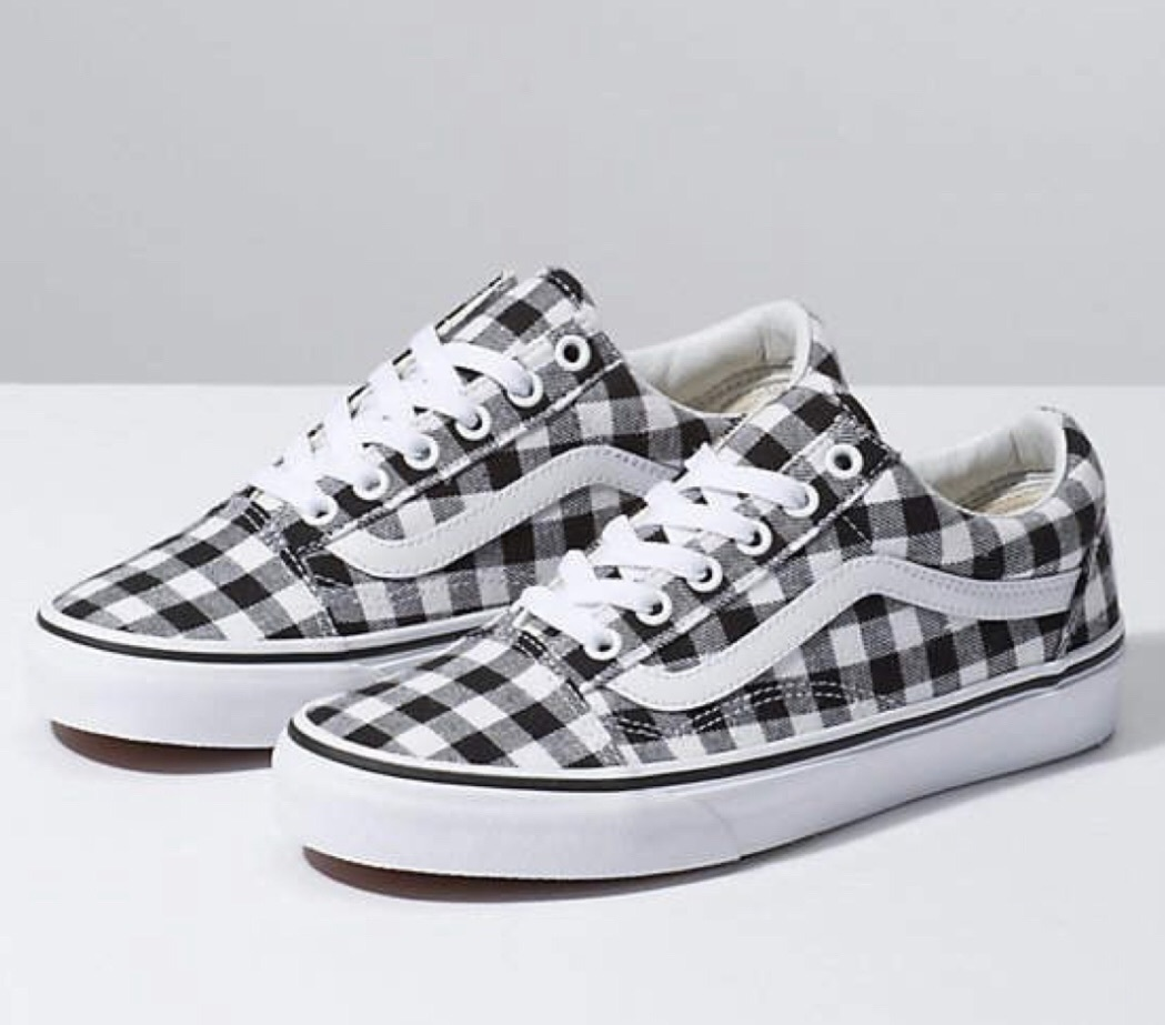 shoes black sneakers white black checkered white sneakers